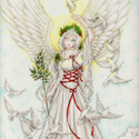 Angel of Peace, 2008   Color Pencil