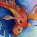 Koi Dream, 2012    Watercolor