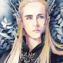Thranduil Elvenking, 2017   Watercolor & Color Pencils